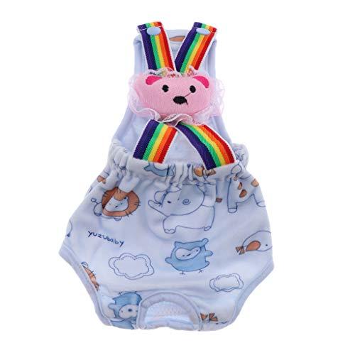 Baoblaze Pantalones de Perro Dulce Pantalones de Protección Pantalones Pantalones de Higiene Pañal Sanitario - Azul m