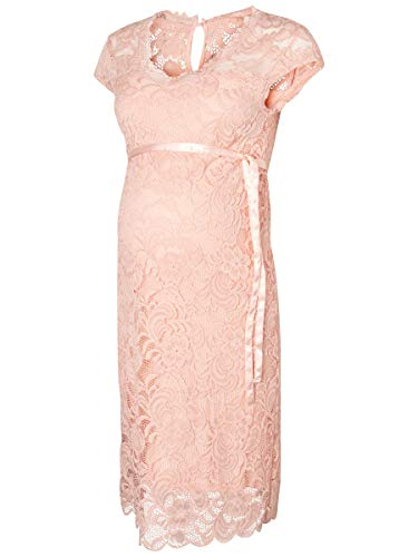 MAMALICIOUS Mama Licious Damen Umstandskleid Spitzen LSeashell Pink