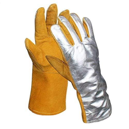 MHYNLMW Aluminium Foil Handschuhe Five Fingers Foil 250-300 Grad Hohe Temperaturbeständigkeit Isolations Radiation Cut Resistant Arbeitsschutzhandschuhe