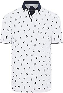 Tarocash Men's Naples Palm Polo Long Sleeve Fit Sizes XS-5XL for Going Out Smart Casual