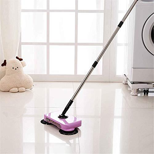 YIJIAHUI Fregona de piso Spin mano empuje barrendero escoba hogar limpieza piso fregona sin electricidad para