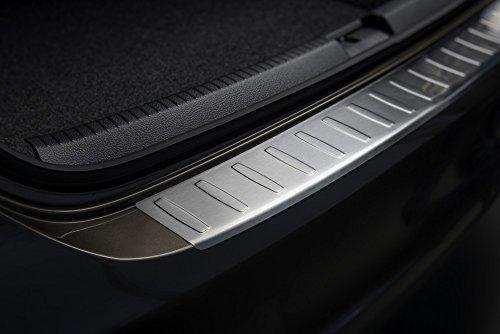 Avisa Protection de seuil arrière inox compatible avec Volkswagen Polo V 6R 2009- 'Ribs'
