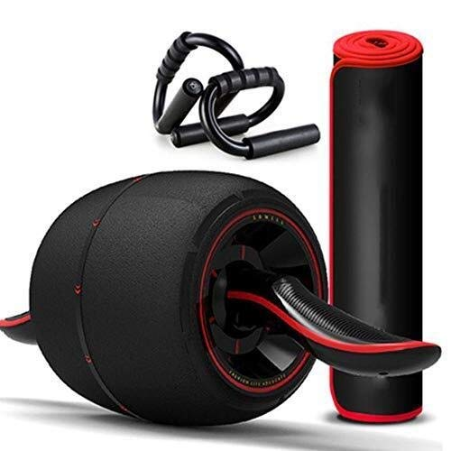 Awningcranks AB Roller Exercise Wheel AB Roller Roller Exercise Wheel with Ergonomic Handle and Knee Pad Mat Smart Brake Automatic Rebound and Multiple Angles A