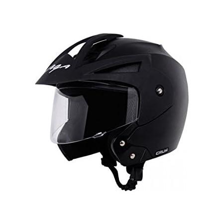 Vega Crux Open Face Black Helmet, L