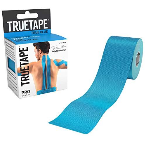 TRUETAPE® PRO - Kinesiologie Tape | Perfekter Tragekomfort | 5m x 5cm | ungeschnitten | Innovatives Synthetikmaterial | Kinesiotape | Blau