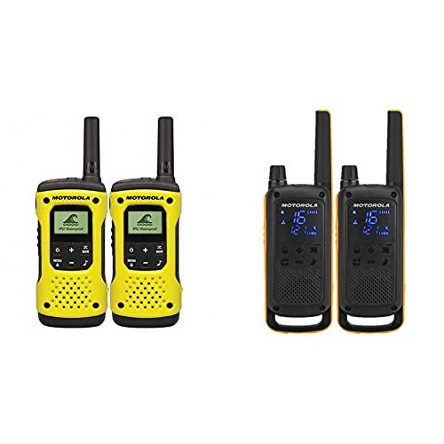 Motorola TLKR T92 H2O PMR Funkgerät (IP67, wetterfest, Reichweite bis zu 10 km), 2 Stück & Motorola Talkabout T82 Extreme PMR Funkgerät - Twinpack