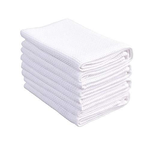 PY HOME & SPORTS Dish Towel Set, 100% Cotton Waffle Weave Kitchen...