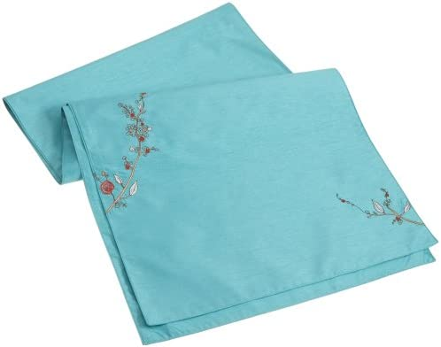 Lenox Chirp Embroidered Runner 19 by 70 Aqua product image