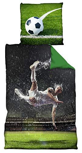 VertriebsArena GmbH Fußball Bettwäsche *** Rückzieher *** 135x200cm / 80 x 80 cm WM 4020209