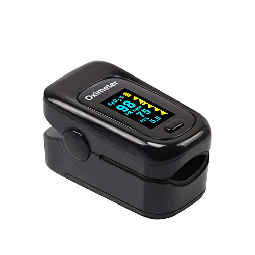 Fingertip Pulse Oximeter, Blood Oxygen Saturation Monitor (SpO2) with Pulse Rate Measurements, Portable Digital Reading LED Display