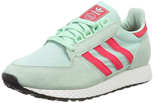 adidas Forest Grove W, Zapatillas de Gimnasia Mujer, Verde (Clear Mint/Active Pink/Chalk White Clear Mint/Active Pink/Chalk White), 36 EU