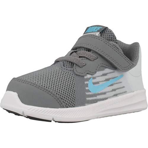 Nike Downshifter 8 (TDV), Pantofole Unisex-Bambini, Multicolore, Grigio (Cool Grey), Blu (Blue Fury), Platino (Pure Platinum), Bianco, 012, 22 EU