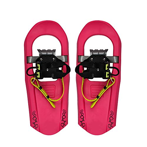 HUWENJUN123 16'' Snowshoes for Youth Kids Boys and Girls, Lightweight Aluminum Alloy All Terrain Snow Shoes with Adjustable Bindings with Carrying Tote Bag