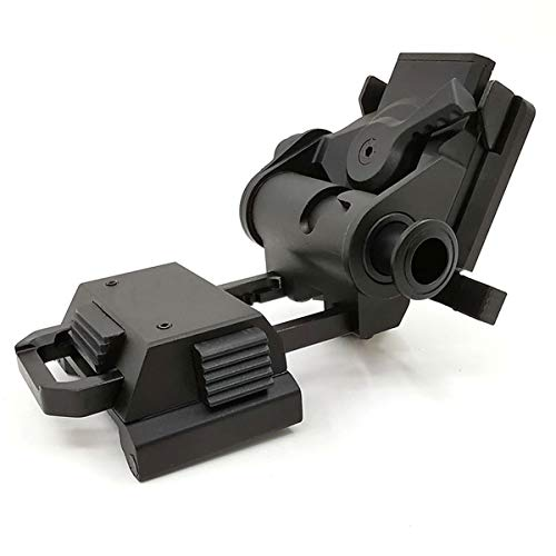Tactical Metal Alloy L4G24 CNC Mount Aluminum Frame Helmet Accessories Mount Arm for PVS 15/18 (Black)