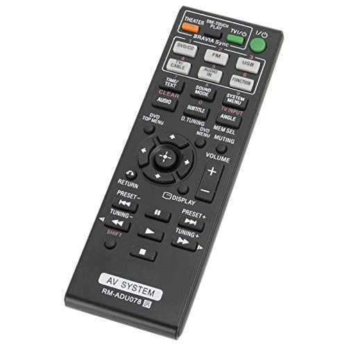 New Replace RM-ADU078 Remote Control RMADU078 fit for Sony DVD Home Theater AV System HCD-DZ610 DAV-DZ170 DAV-DZ171 DAV-DZ175 RM-ADU079 DAV-TZ210 DAV-TZ510 DAV-TZ710 HBD-DZ170 HBD-DZ171 HBD-DZ175