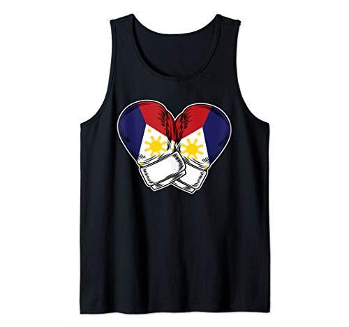 Boxing Filipino Philippines Flag Tank Top