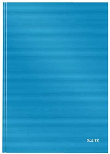 Leitz A4 Notizbuch, 80 Blatt, Hardcover, Karierte Seiten, Solid, Hellblau, 46640030