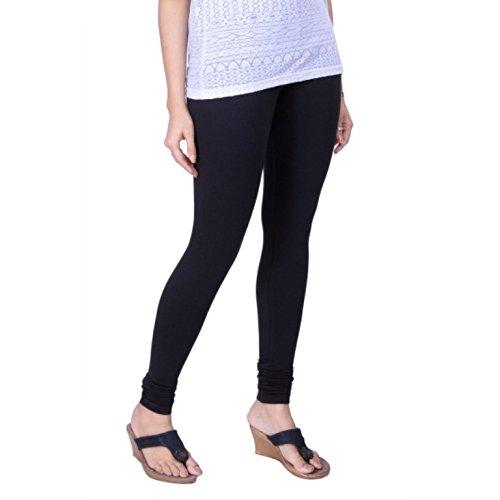 LUX LYRA Women's Cotton Churidar Leggings (Black, Free Size)