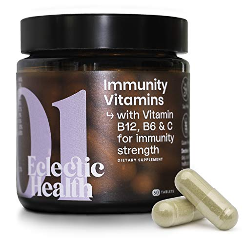 Eclectic Health Immunity Support Multivitamins Dietary Supplement Capsules – Powerful Combination of B12, B6, Zinc, Vitamin C & Vitamin D3 for Immunity Strength – Made in UK (60 Capsules)