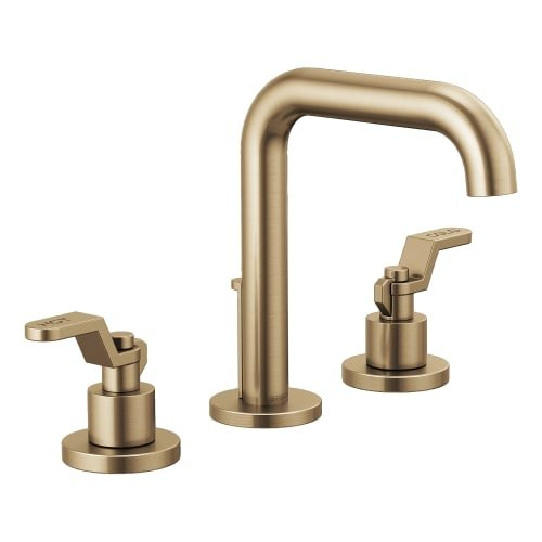 Brizo 65335LF-LHP-ECO Litze 1.2 GPM Widespread Bathroom Faucet with Drain Assemb, Luxe Gold