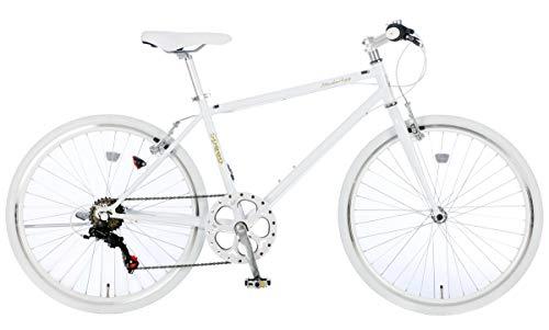 21Technologyクロスバイク(26インチ)自転車シティサイクルシマノ製6段変速レボシフターフラットハンドルバー前後キャリパーブレーキ通勤通学街乗りスポーツCL266-G