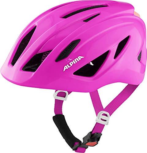ALPINA Unisex - Kinder, PICO FLASH Fahrradhelm, pink gloss, 50-55 cm