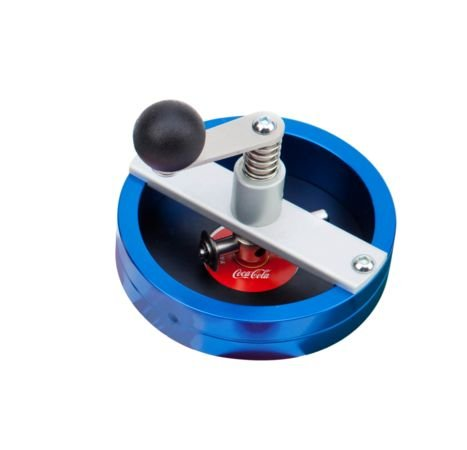 Cortador circular de papel para fabricar chapas personalizadas con moldes para medidas de 25mm. 31mm. 38mm. 50mm. 59mm. y 75mm.