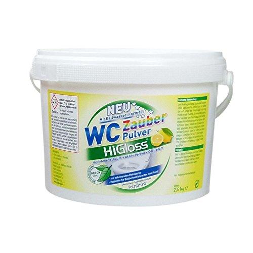 HiGloss WC Zauber-Pulver, Kaltwasser-Formel mit Aktivperlen