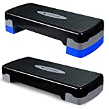 SAPPHIRE Aerobic Steppbrett 2-Stufen höhenverstellbar Stepper Step-Bench Home-Stepper Steppbank...