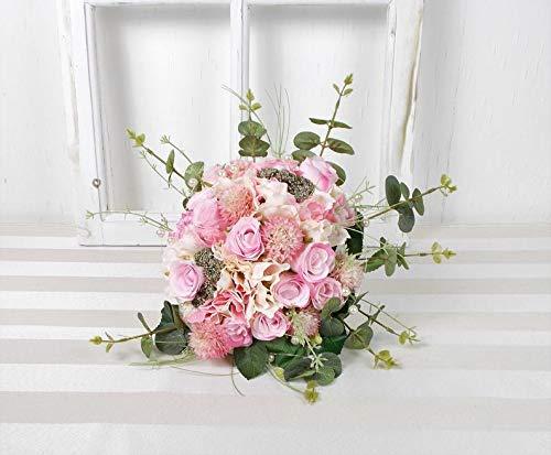 Brautstrauß künstlich, rosa, Blumenstrauß romantisch