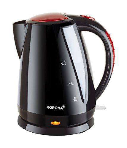 Korona 20113–bouilloire-noir/rouge