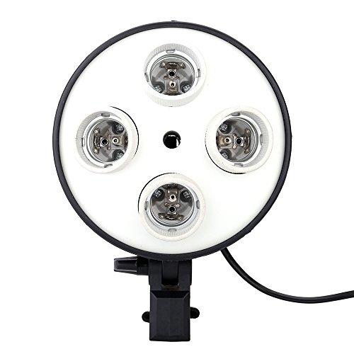 Andoer 4 in 1 E27 fittinglamp lamphouder adapter basissokkeladapter voor foto, video, studio, softbox
