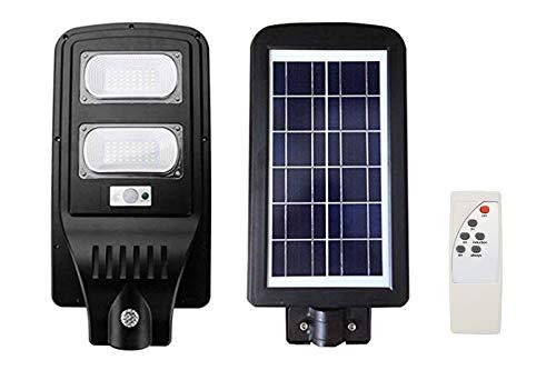 Faro led lampione stradale 60w pannello solare crepuscolare telecomando FO-5960