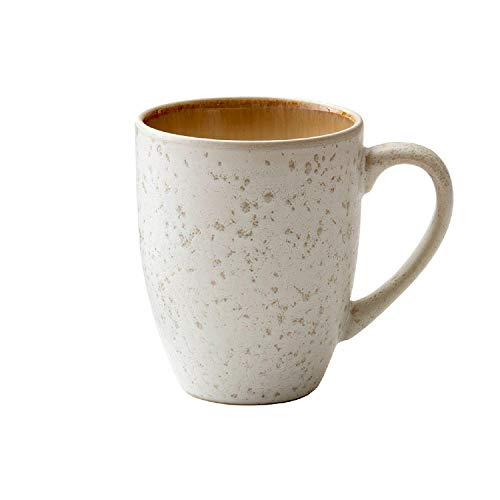 BITZ Kaffeetasse/Kaffeebecher, Tasse aus robustem Steinzeug, 30 cl, Creme/Creme