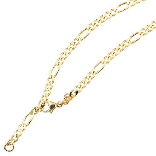 JOBO Fußkettchen Fußkette 333 Gold Gelbgold 25 cm