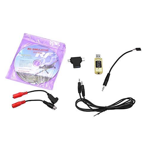 F Fityle Juego de Cables Adaptador de Simulador USB para Control Remoto...