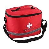 DDyna Nylon Rojo Símbolo de Cruz llamativa Alta Densidad Ripstop Deportes Camping Hogar Emergencia médica Supervivencia Botiquín de Primeros Auxilios Bolsa al Aire Libre