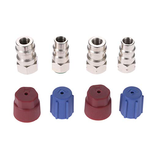 Aupoko R12 R22 to R134A Conversion Adapter Kit, R12 to R134A Retrofit Valve Fitting Kit for A/C Pro Refrigerant - 2 Kits
