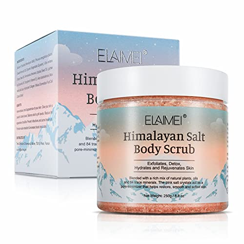 Himalayan Salt Body Wash Scrubs Natural Exfoliating Salt Scrub,Suitable For Fat Particles, Dead Skin, Wrinkles, And Facial And Foot Mask Scrubs, Deep Cleansing The Skin, Moisturizing The Skin - 250g