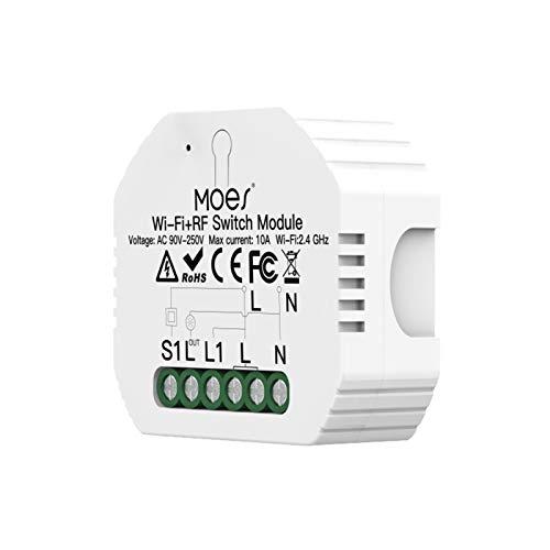 Smart WiFi Switch Relay-Modul, 100-240 V RF433 Smart Life/Tuya App-Steuerung DIY Smart Home-Automatisierungsmodul, 1 Gang