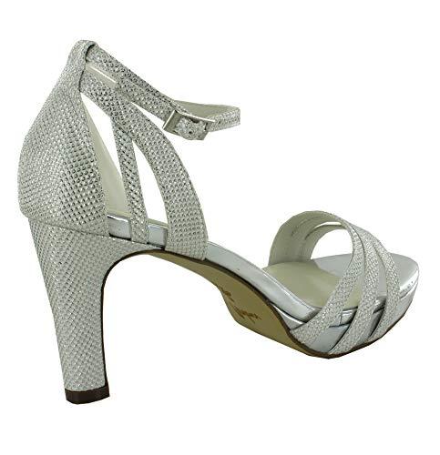 Menbur Fabiola Sandalen/Sandaletten Damen Elfenbein - 36 - Sandalen/Sandaletten Shoes