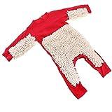 Fenteer Combinaison Serpillière Enfant Coton Vêtements Garçon Fille Rampants Bébé Barboteuse - Rouge + Beige, 80cm