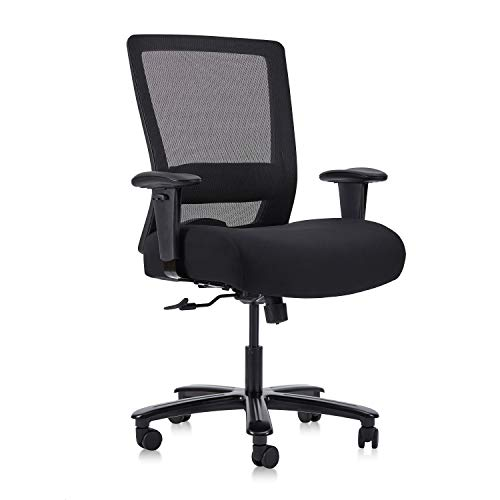 CLATINA Big and Tall Executive Chair Ergonomic with 400lbs High Capacity and Lumbar Support for Home Office Black 1 Pack BIFMA Certification No.5.11