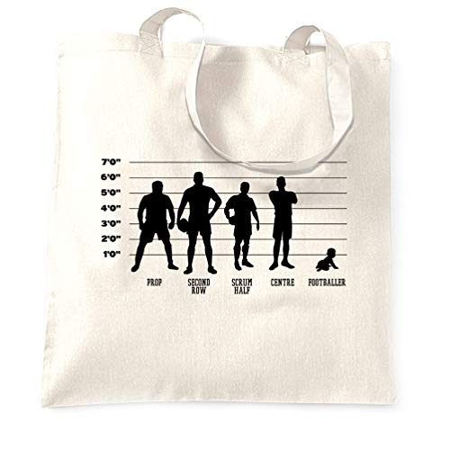 Novelty Sports Tote Bag Rugby Vs Football Baby Lineup - (White/One Size)