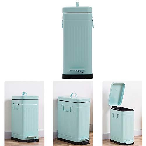 De Gran Tamaño De 10 litros De Cocina Compost Bin, con El Plástico Trazador Líneas Arte Hierro Construcción Robusta La Basura, Papelera Espacios Estrechos En Casa U Oficina Verde Menta
