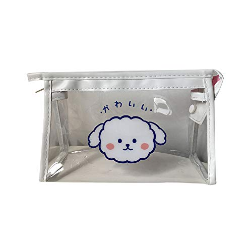 Yicare Transparent Pencil Case Stationery Storage Handheld Pen Bag Zipper Cosmetic Portable Organizer Student Girl Teen
