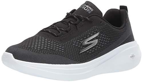 Skechers Women's GO Run FAST-15106 Sneaker, Black/White, 8.5 M US
