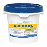 E-Z Pool Weekly All in 1 Concentrated Outdoor Swimming Pool Care Solution Blend with Copper Sulfate and Oxygen Enriching Formula, 20 Pound Bucket