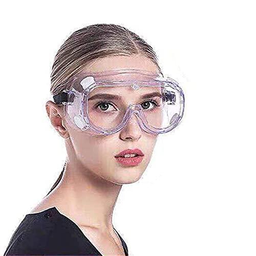 Gafas de Seguridad,Lentes de Seguridad antivaho Prevención Polvo Prueba de Impacto Arena a Prueba de Viento Para Anti Salpicaduras para Laboratorio, Agricultura, Industria ⭐