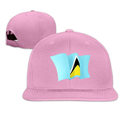 Unisex Flag of Saint Lucia Snapback Hats Custom Adjustable Baseball Cap Hip Hop Dad 100% Cotton Flat Bill Ball Hat